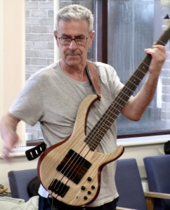Jeremy Kahn playing electric bass