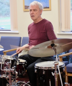 Bert Schilperoort playing drums