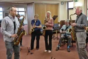 Students playing it the concert at Grafham